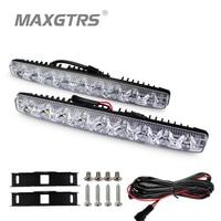 2x High Power 2X9 Led 18W Led Car Light DRL Metal Shell Light Source Waterproof Car