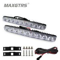 2x High Power 2X9 Led 18W Led Car Light DRL Metal Shell Light Source Waterproof Car