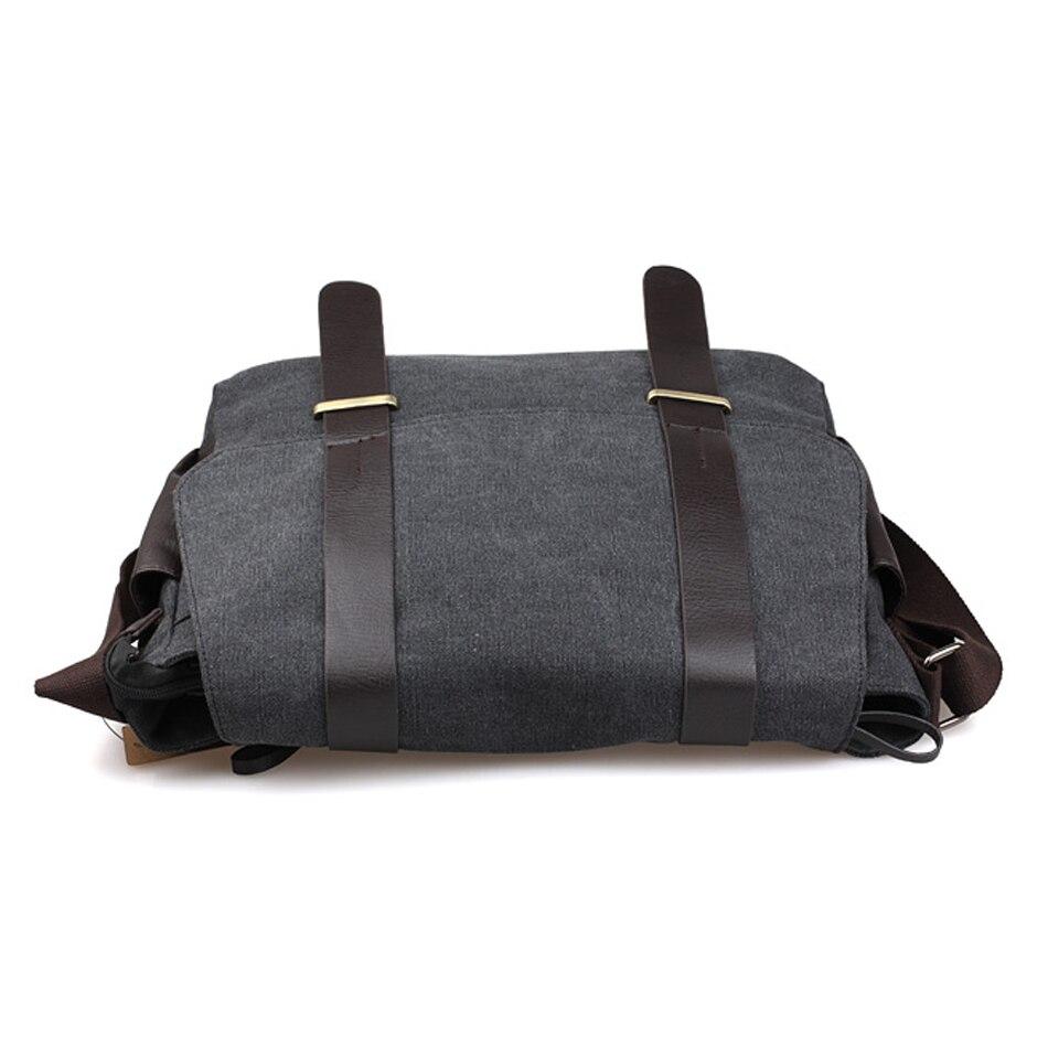 escola da lona do vintage Tipo de Ítem : Messenger Bags