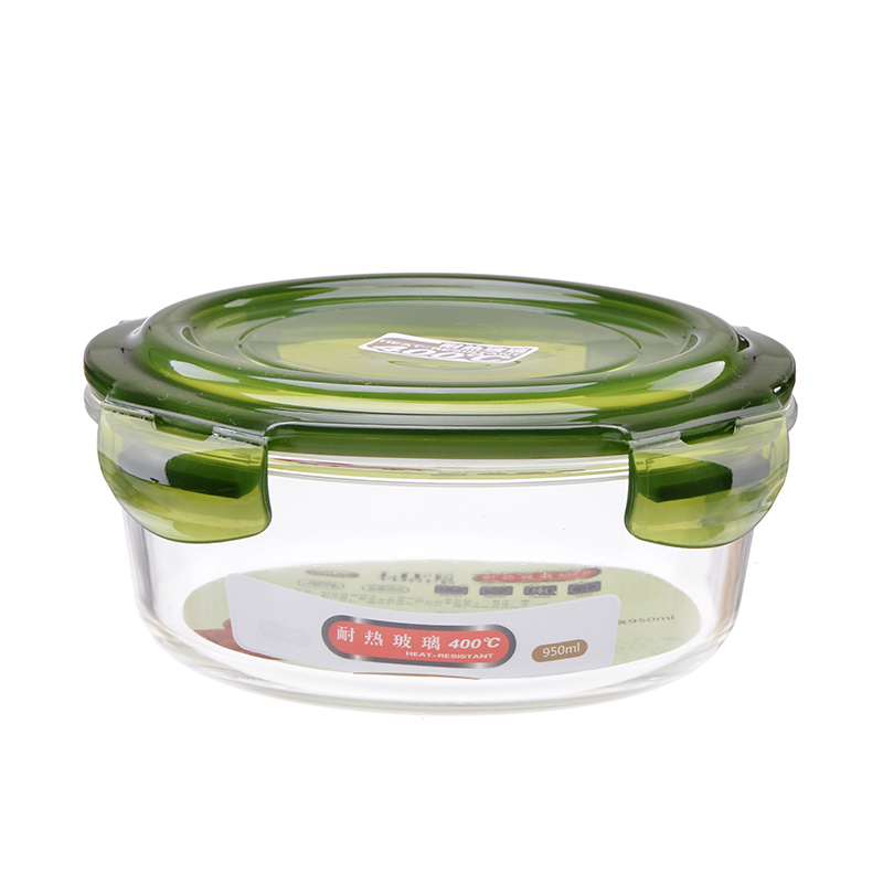 round food containers borosilicate glass lunch box. Black Bedroom Furniture Sets. Home Design Ideas