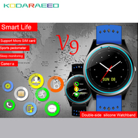 V9 Bluetooth Smart Watch with Camera Pedometer Health Sport Clock Hours Men Women for Android Phone Wearable Devices