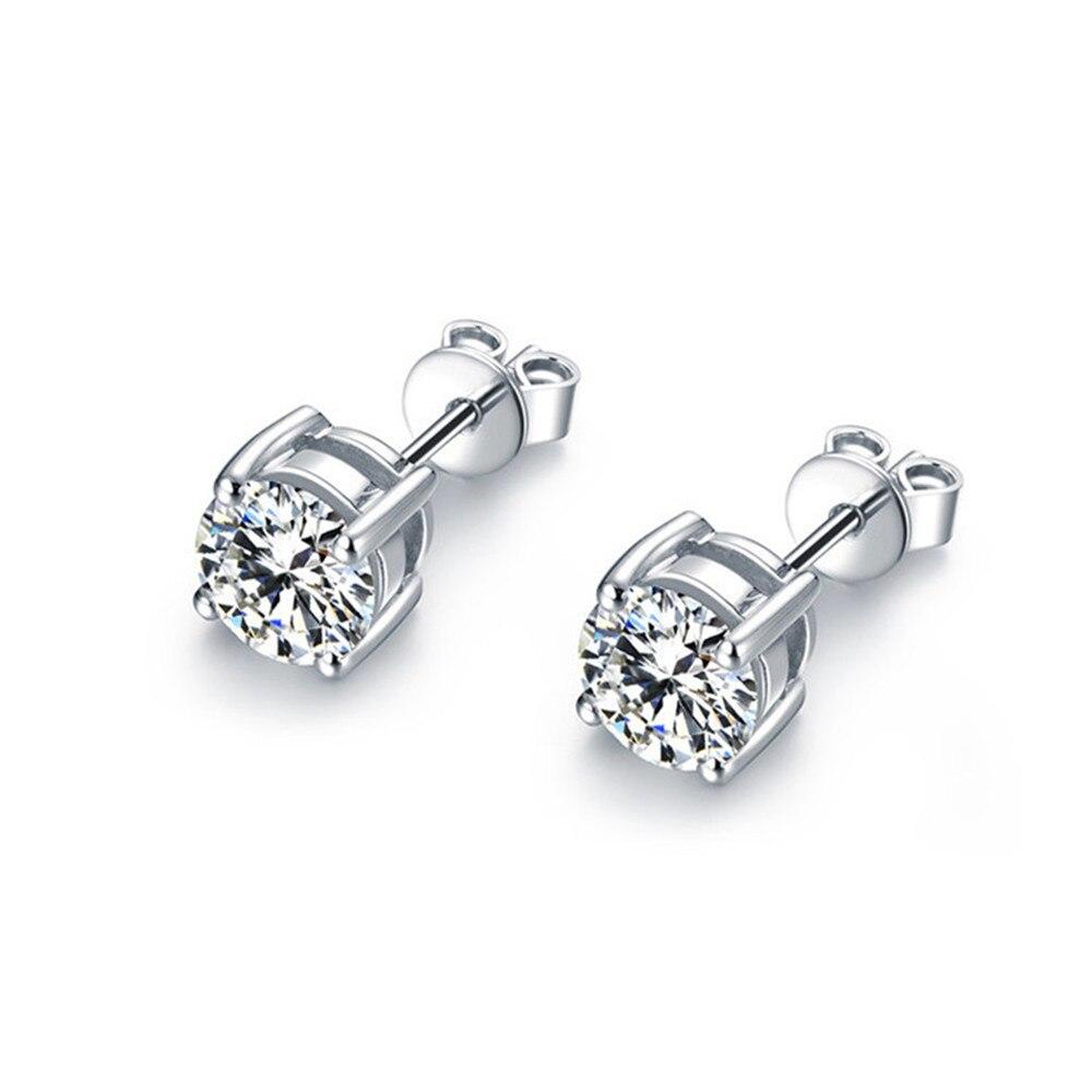 все цены на ANI 18K White Gold (AU750) Women Engagement Stud Earrings 0.385 CT Certified I/SI Round Cut Natural Diamond Elegant Stud Earring
