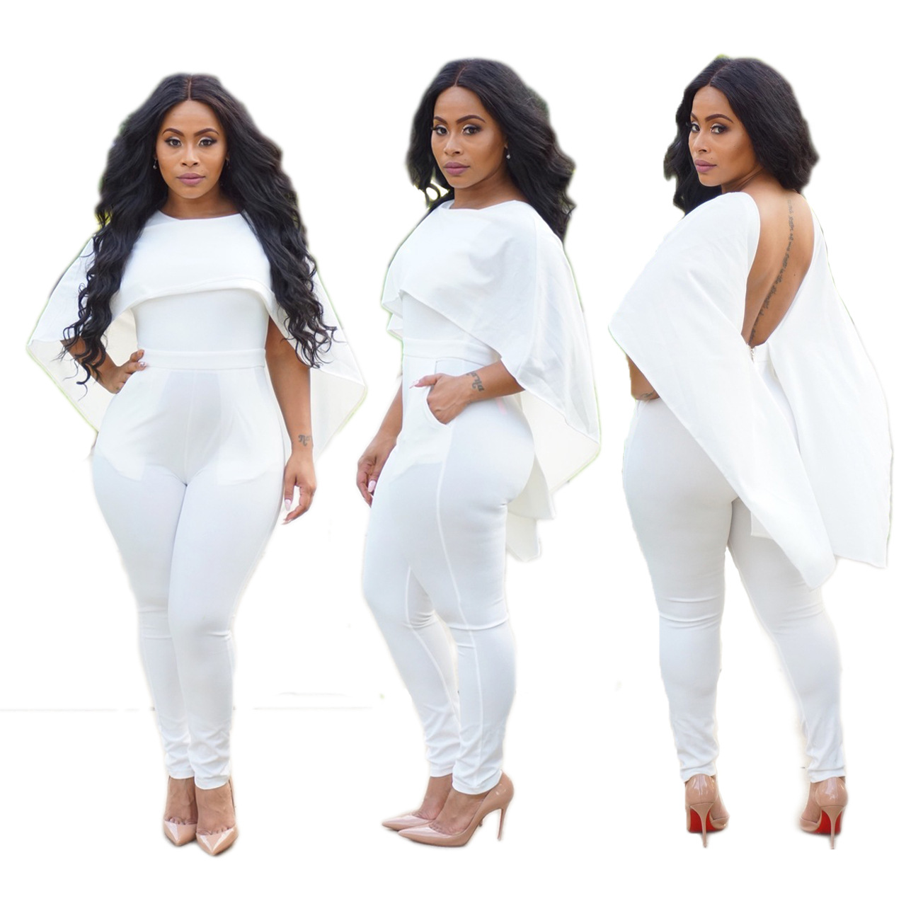 Catsuit Real Sexy Bodysuit 2018 Direct Selling Sale Polyester Plus Size Jumpsuits And Rompers For Women Sexy Backless Jumpsuit