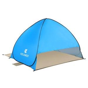 Image 4 - Odkryty automatyczny namiot kempingowy namiot plażowy anty UV schronisko Camping wędkowanie piesze wycieczki piknik natychmiastowa konfiguracja Outdoor Sunshelter