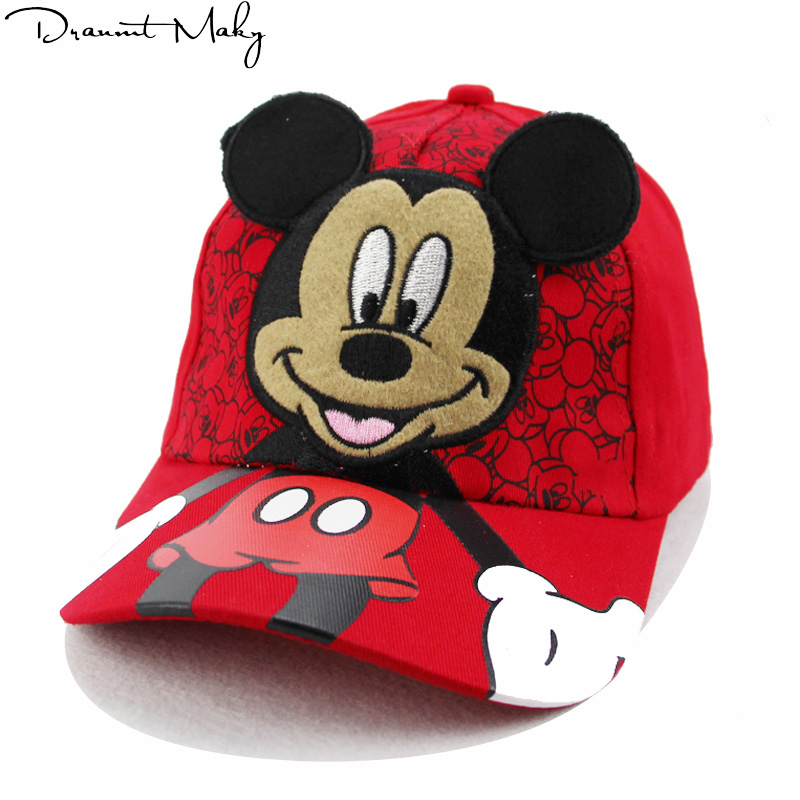 Fashion Mickey Childrens Hip Hop Hats Boys And Girls Universal Adjustable High Quality Outdoor Shade Summer Net Caps Streetwear 2019 Official Boy's Accessories