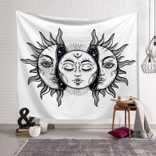 PEIYUAN Indian Mandala Sun and Moon Galaxy Star Tapestry Wall Hanging Decorative Hippie Abstract Boho for Home Decor