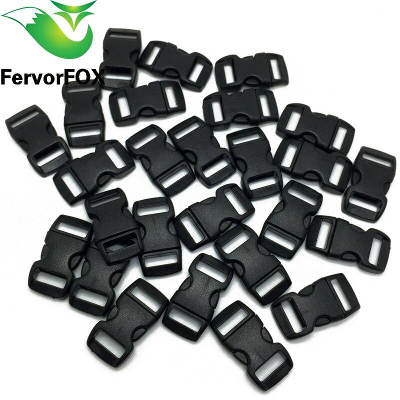 100pcs/lot Black Plastic 3/8