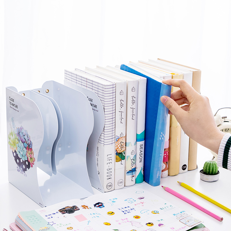 Retractable Book Stand Folding Book Stand Bookend Storage Student with Simple Block Book Board Partition Bezel Desktop Storage international express intermediate student s book with pocket book