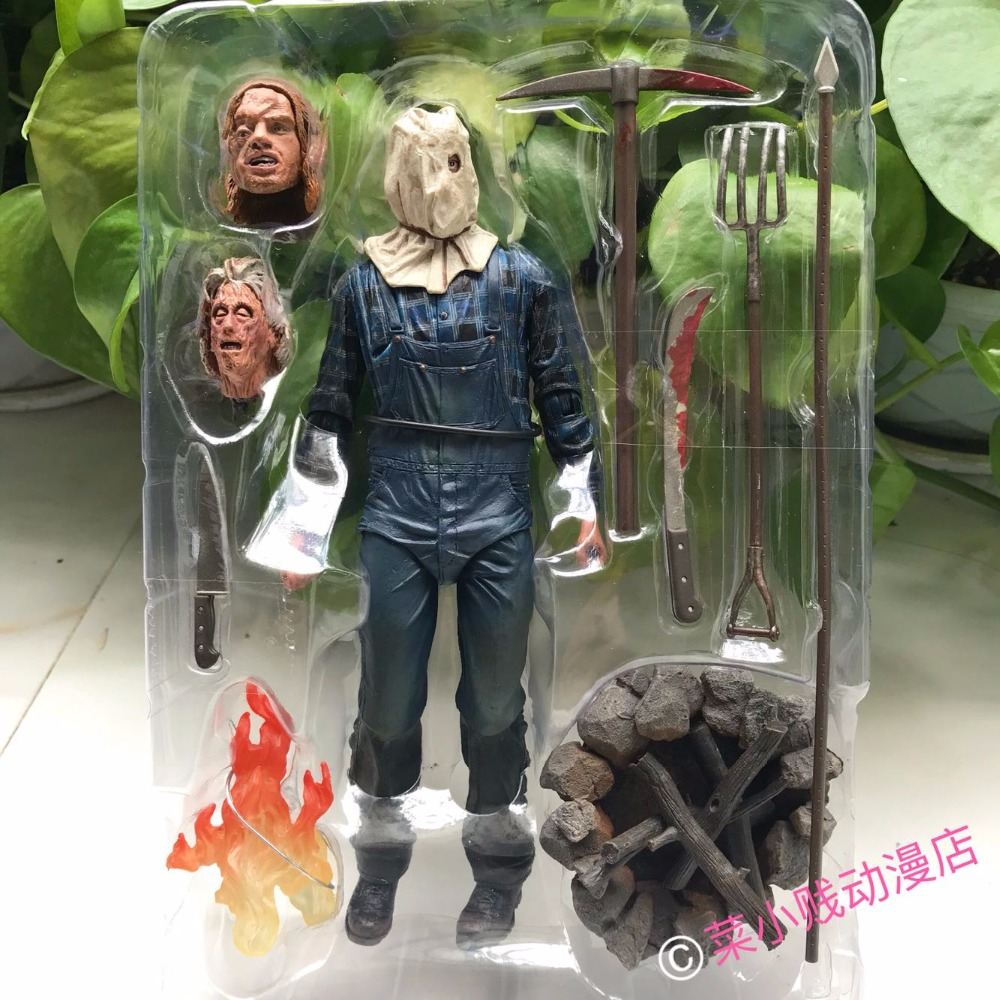 Action Figure NECA Friday The 13th Jason Figure 18cm Jason Sack Head Movable Model Collection Decor Luxury V стоимость