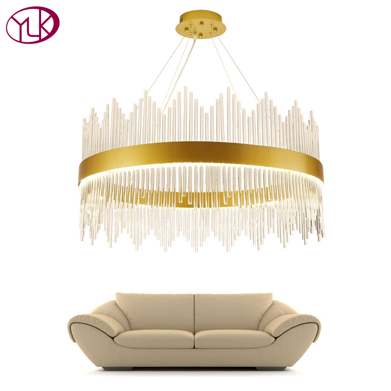 цены Youlaike Modern Crystal Chandelier Round Luxury Dining Room Suspension Luminaire Home Decoration LED Hang Lighting Fixture