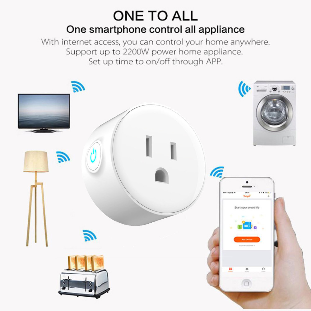 Smart charger Wifi remote control timer switcher power monitoring for USType voice control with Alexa Google Home Electric Mini-in Mobile Phone Chargers from Cellphones & Telecommunications