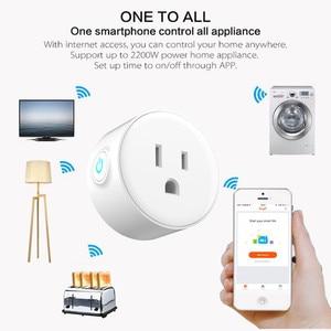 Image 1 - スマート充電器無線 lan リモートコントロールタイマー switcher パワー USType 監視音声制御と Alexa Google 家電ミニ