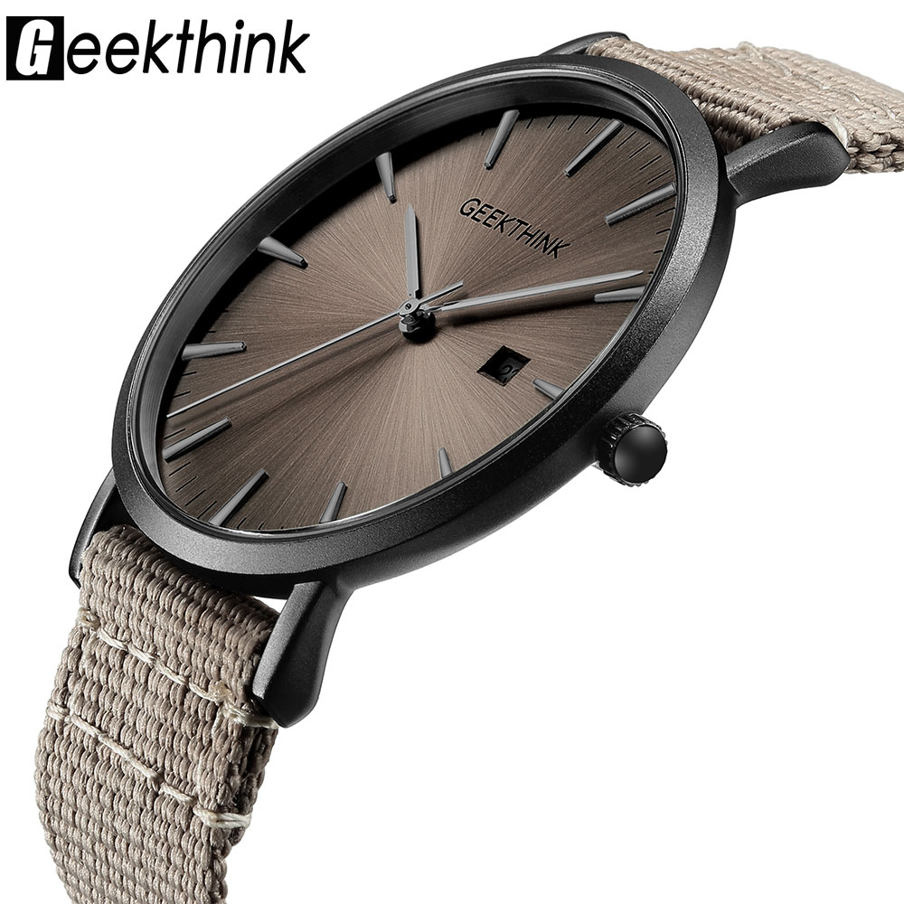 Casual Quartz Watches Men's Fabric Slim Ultra Thin Simple Analog Japan Quartz Wristwatches Unisex Clock Male Relogios Masculino