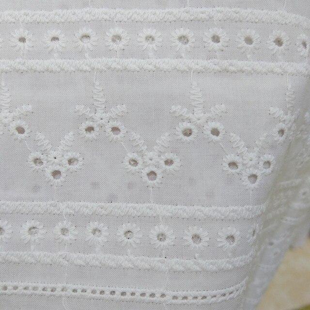 Vêtements en coton pur   Couture et tissu brodé, tissu en coton avec dentelle, matériel en coton pur, accessoires pour vêtements de bricolage