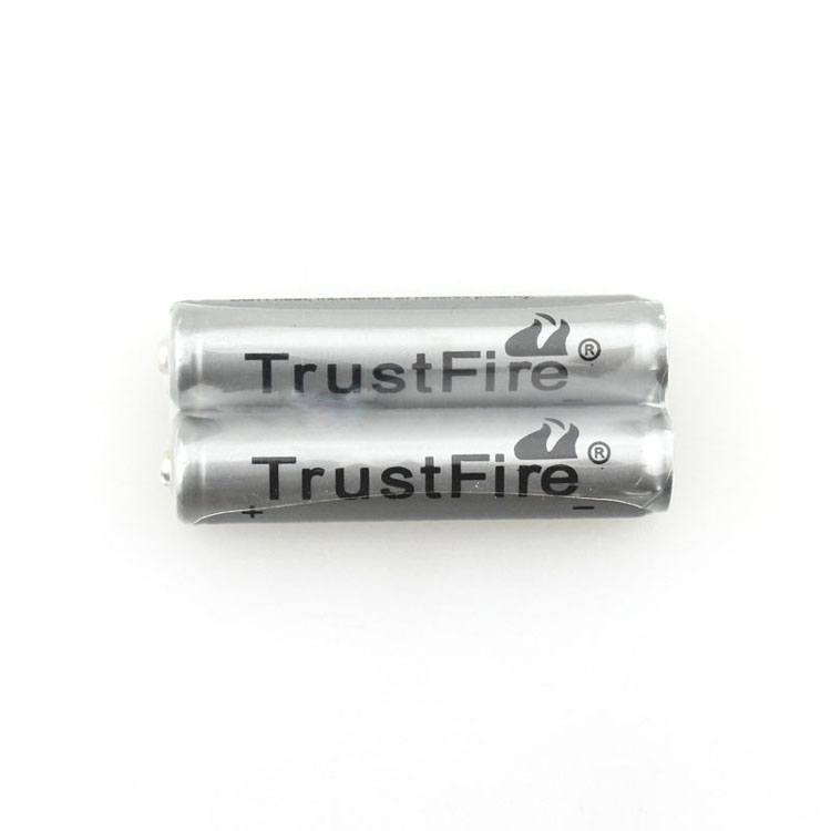 50pcs/lot TrustFire 3.7V 600mAh 10440 Li-ion Battery Rechargeable Batteries with Protected PCB for LED Flashlights / Headlamps