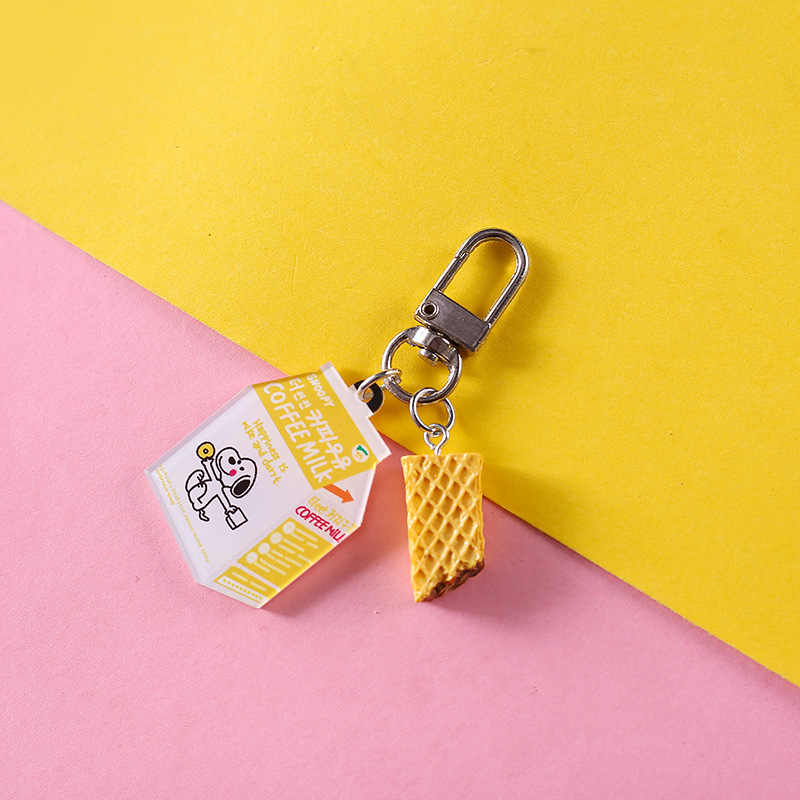 Mini Dễ Thương Nhựa Mô Phỏng Thực Phẩm Móc Chìa Khóa Túi Xe Móc Khóa Burger Móc Khóa Nữ Móc Khóa Phụ Kiện Nhỏ Quà Tặng Mặt Dây Chuyền
