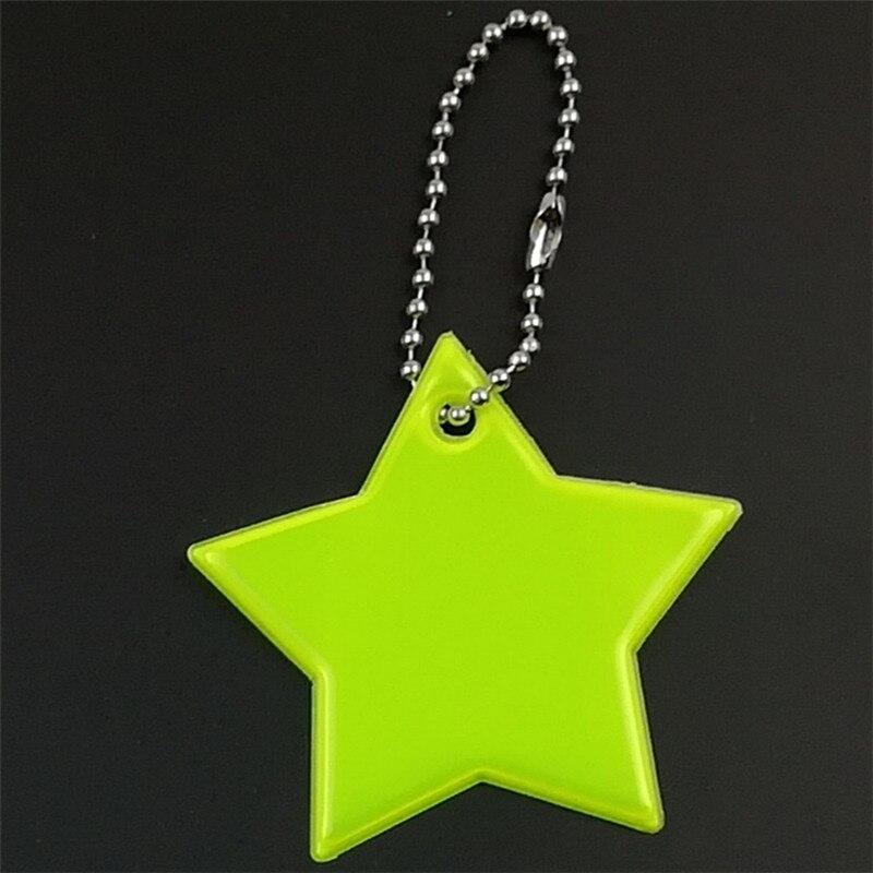 Маленькая звезда сумка брелок милый мягкий ПВХ отражающий брелок, подвеска для машины Шарм сумка Аксессуары для безопасности дорожного движения использования - Название цвета: Fluorescence yellow