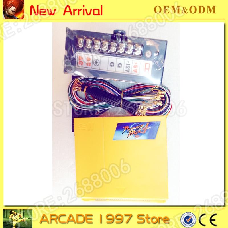 Pandora box 4 with jamma harness +power supply VGA/CGA output 645 in 1 game board arcade jamma boards 645 in 1 pandora s box4 hd pcb vga cga output for lcd crt jamma arcade cabinet machine game board jamma pandora box 4 f shipping