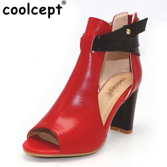 COOLCEPT Damen Fashion High Heel Sandalen Party Schuhe Peep Toe Black Size 40 Asian ilBmaHWY