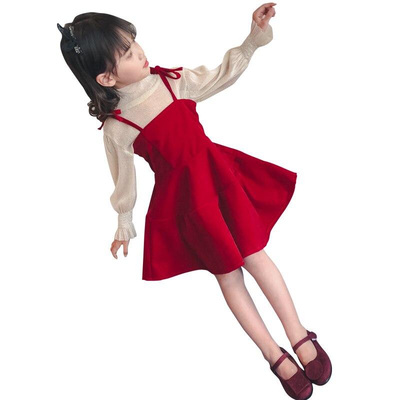 Meisjes Kleding Kids Girls Clothing Sets 2018 Spring T Shirts + Dress 2 Pcs Children Clothing Sets School Costume 7 8 9 10 11 12 new children clothing sets for girls t shirts