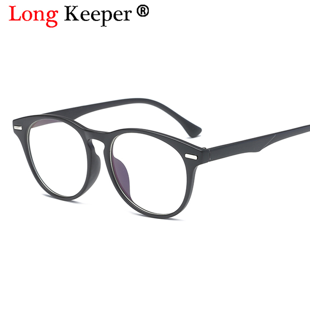 985206f51c7a Long Keeper Brand Vintage Oval Eyeglasses Female Male Clear Lens Eye  Glasses Women Men Eyewear Frames