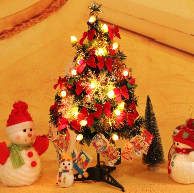 Luxury Christmas Tree 60CM With Fruit Light Decorating Xmas Tree ...