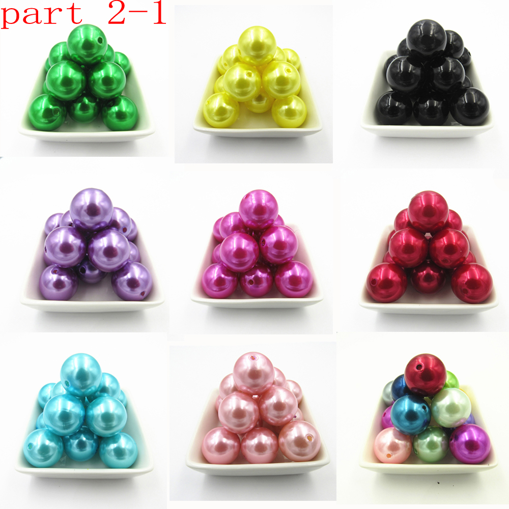 Wholesale Part 2-1, 6mm-8mm-10mm-12mm-14mm-16mm-18mm-20mm Imitation/Acrylic Pearl Chunky Beads