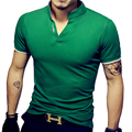 Venda quente novos homens marca de moda polo camisa de cor sólida manga curta-slim fit camisa polo dos homens do algodão camisas casual camisa polo 5xl