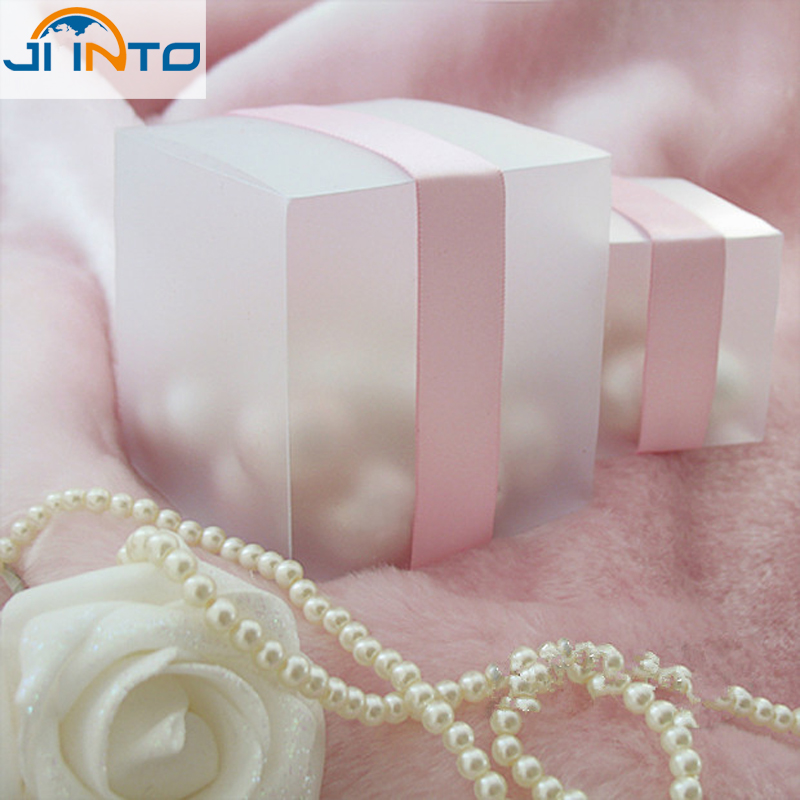 FREE SHIPPING--HOT 5x5 Matte Clear PVC Birthday Gift Box Wedding Favor Boxes Chocolate Candy Boxes Event Sweet Candy Box