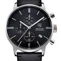 Benyar marca de moda de lujo de los hombres reloj de cuero caja de acero inoxidable reloj de cuarzo de negocios impermeable relojes con la caja original