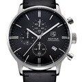 Benyar negócio de relógio de couro dos homens marca de moda de luxo caixa de aço inoxidável relógio de quartzo relógios à prova d' água com caixa original