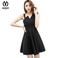 Rosetic Gothic Mini Dress Black Pentagram 2017 Summer Sexy Women Short Fashion Dresses Sleeveless A Line
