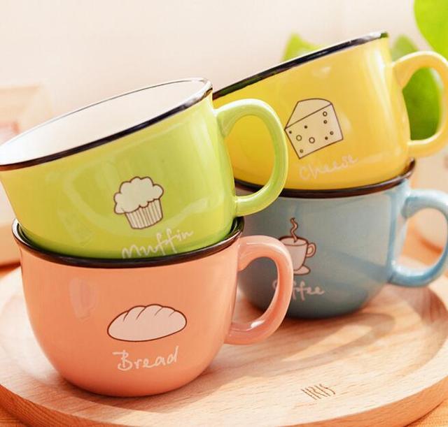 Creative Candy Colored Ceramic Mugs