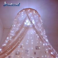 Jiaderui 6M X 3M 600LED Home Outdoor Holiday Christmas Decor Wedding Xmas String Fairy Curtain Garlands