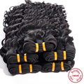 EVET Brazilian Deep Wave Human Hair Weaves 1pcs Unprocessed Brazilian Virgin Hair #1B Black Virgin Deep Wave Hair 100g/pcs