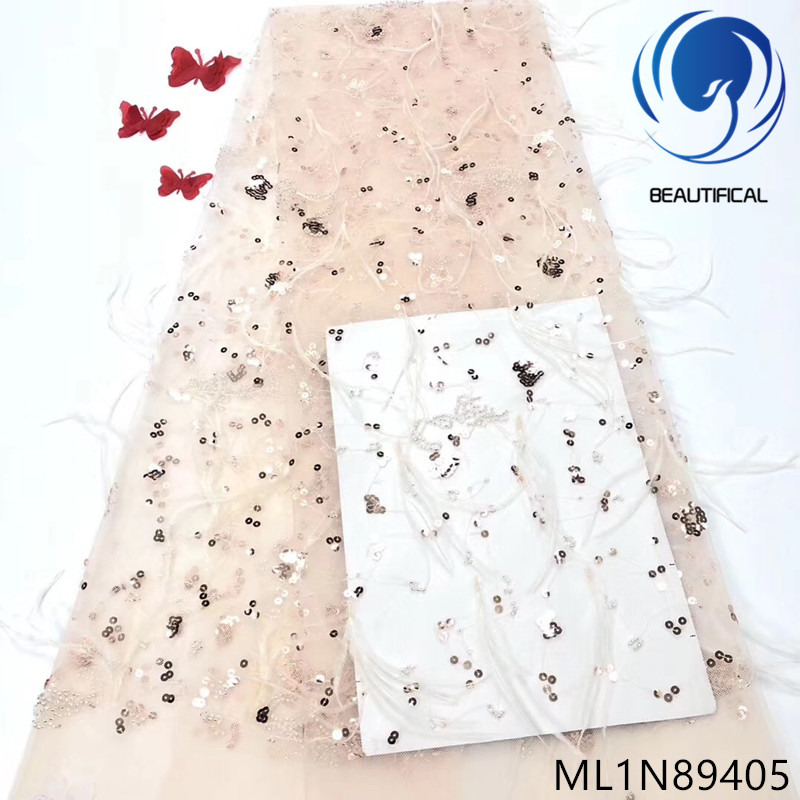 Beautifical French lace fabric 2019 high quality 3d lace fabric with sequins for dress 3d villose net lace fabric 5yards ML1N894Beautifical French lace fabric 2019 high quality 3d lace fabric with sequins for dress 3d villose net lace fabric 5yards ML1N894