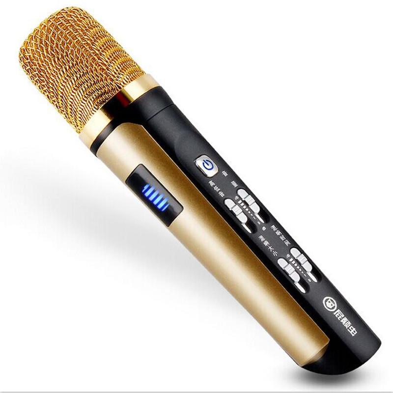 Itek New Handheld Portable Audio Condenser Microphone KTV Karaoke Mobile Phone Recording Microphones for iPhone Android