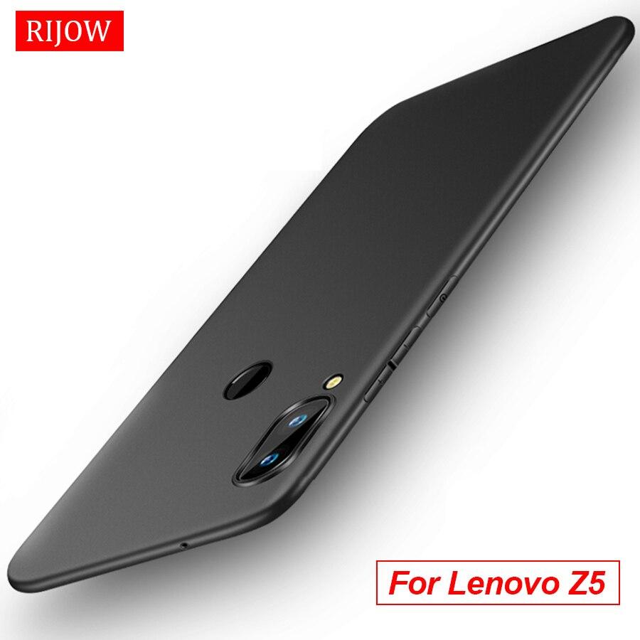 RIJOW for Lenovo Z5 Case for Lenovo Z5 Cover Soft TPU Mate Back Full Protect Phone Cover for Lenovo Z5 L78011 Phone Cases Black