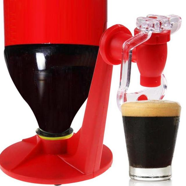 Porta bebidas Mini automático boca abajo bebederos Cola interruptor para bebidas bebederos dispensador de agua a presión de la mano