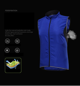 Image 5 - 2019 New Mens Cycling Vest Breathable Reflective Windbreaker Sleeveless Cycling Windproof Jersey Ropa Ciclismo Windstopper