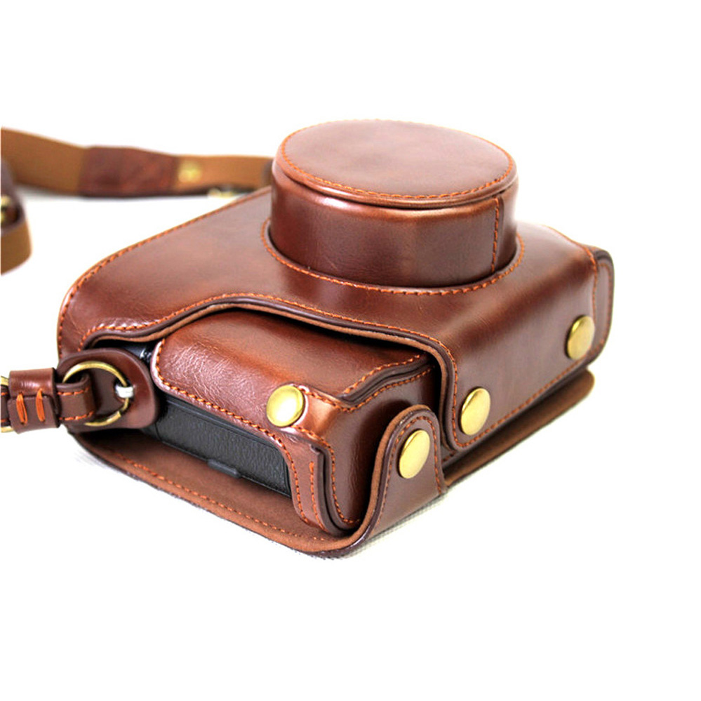 NEW Retro Luxury Leather Camera Video Bag PU Ather Body Case for Fujifilm X100F Fuji X100F