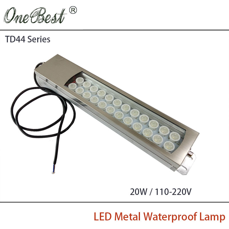 HNTD 110-220V TD44 20W Led Metal Panel Light CNC Machine Tool Waterproof Explosion-proof Led Spotlight Work Lamp Free shipping