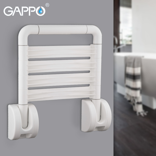 folding chair for bathroom adjustable vanity gappo wall mounted shower seats seat bath bench stool toilet