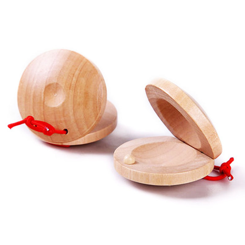 Wooden Original Color Ring Board Round Dance Board Children Ring Board  Percussion Instrument Baby Puzzle Music  Toys