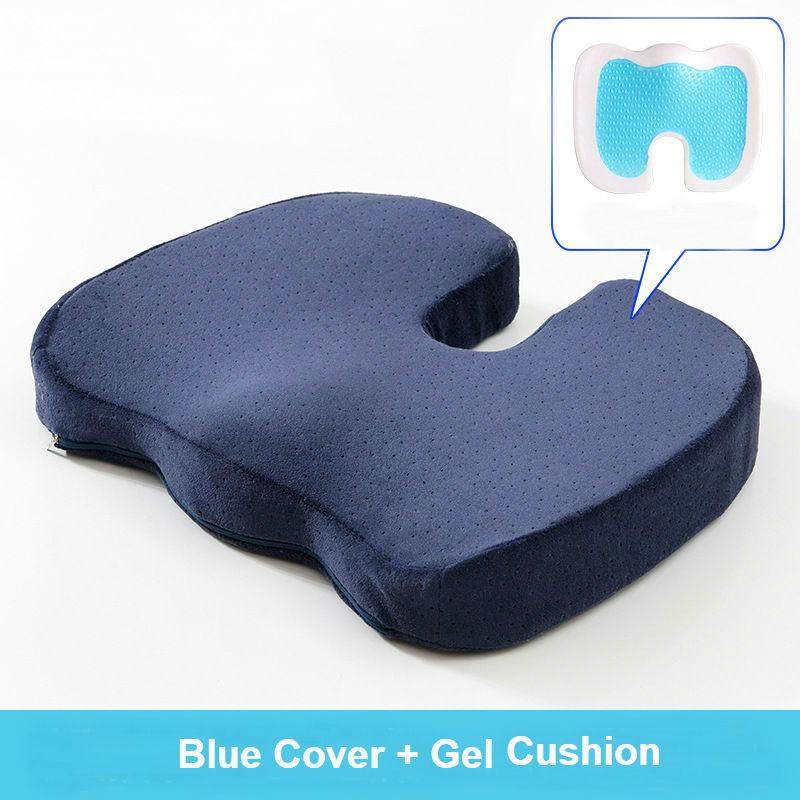 Peter Khanun 45 36 7cm U Shape Gel Cushion Memory Foam Pillow Coccyx Protect Slow Rebound Summer Cool Chair Cushion Seat Mat 031 in Cushion from Home Garden