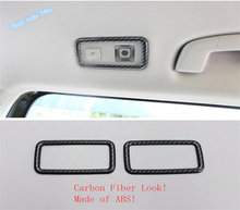 Lapetus Auto Styling Rear Roof Reading Lights Lamp Cover Trim Fit For Volkswagen VW Tiguan 2016 - 2020 / Matte Carbon Fiber ABS lapetus accessories fit for volkswagen vw tiguan mk2 2016 2019 window lift button switch cover trim matte carbon fiber style