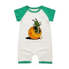Детские Комбинезоны для малышек летняя одежда комплект короткий рукав для Обувь для мальчиков Обувь для девочек Комбинезоны для женщин одежда Dragon Ball мультфильм новорожденных одним Pieces общая
