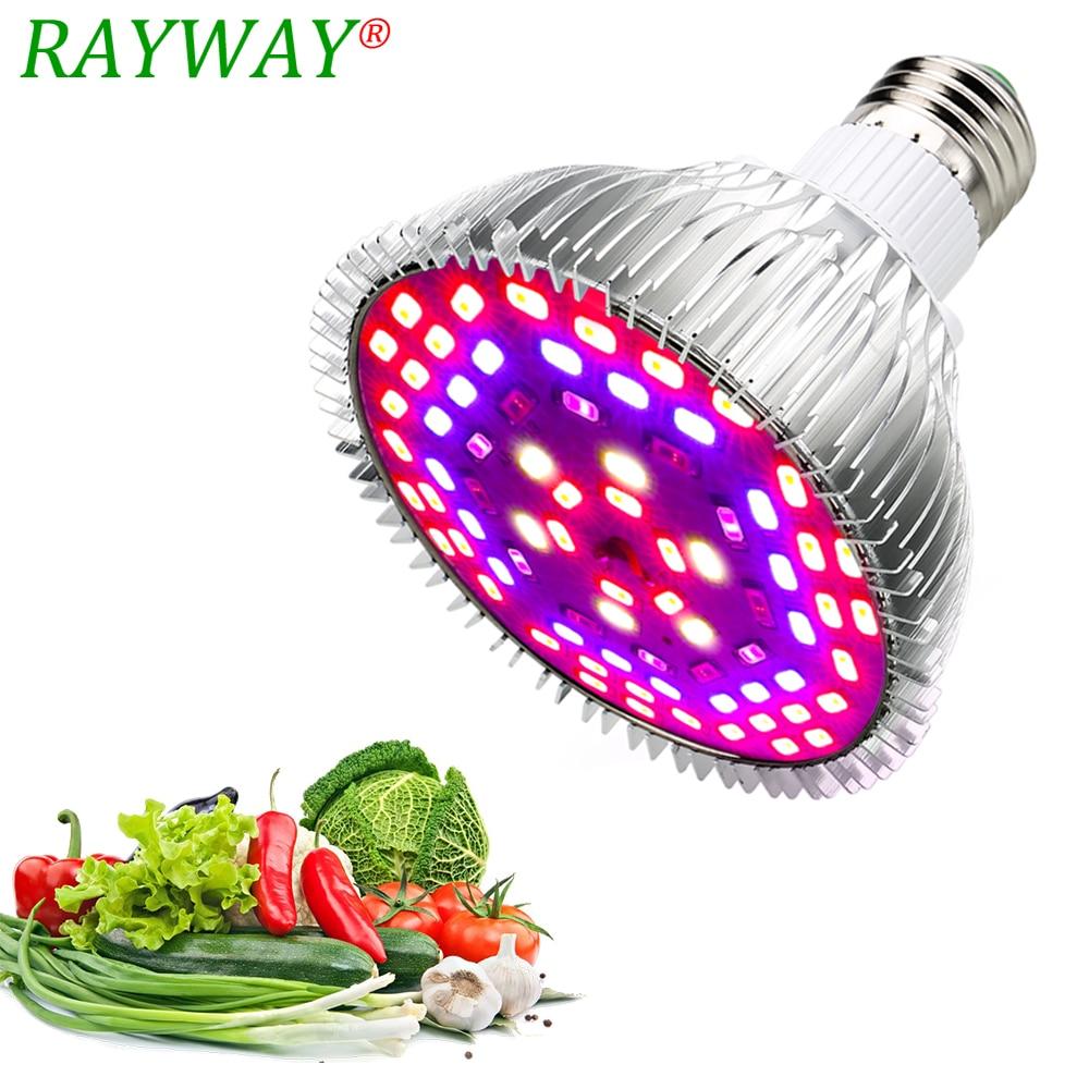 Ամբողջական սպեկտրով LED աճող լույսեր E27 85-265V 10W 15W 25W 45W LED բույսերի լամպերի լամպ ՝ հիդրոպոնիկայի բանջարեղենի և ծաղկման բույսերի համար