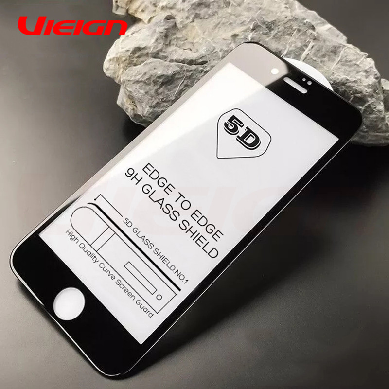 5D Tempered Glass On The For IPhone X 10 7 8 6 6S Plus Screen Protector Full Cover Protective Glass For IPhone 6 6s Glass Film
