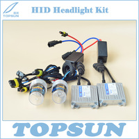 Car Light Retrofit Kit Chinese Top Brand TC 55W H1 H3 H7 H11 9005 9006 HID Headlight Bulb and TOPSUN Slim Ballast, Free Shipping